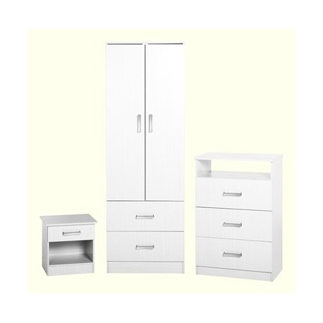 Amazing 3 piece wardrobe set in white finish
