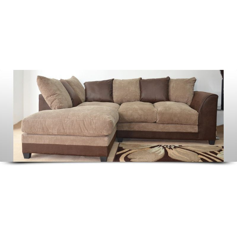 stunning brown and beige cord corner sofa left or right. Black Bedroom Furniture Sets. Home Design Ideas