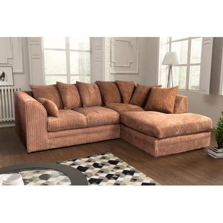 Amazing beige cord corner sofa