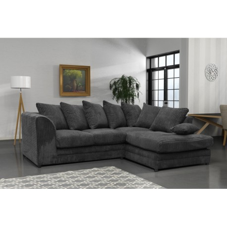 Amazing grey cord corner sofa