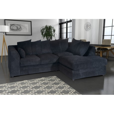 Amazing black cord corner sofa