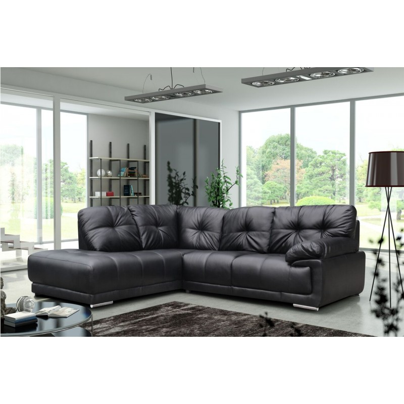 Amazing Lex Black Leather Large Corner Sofa Localfurniturestore