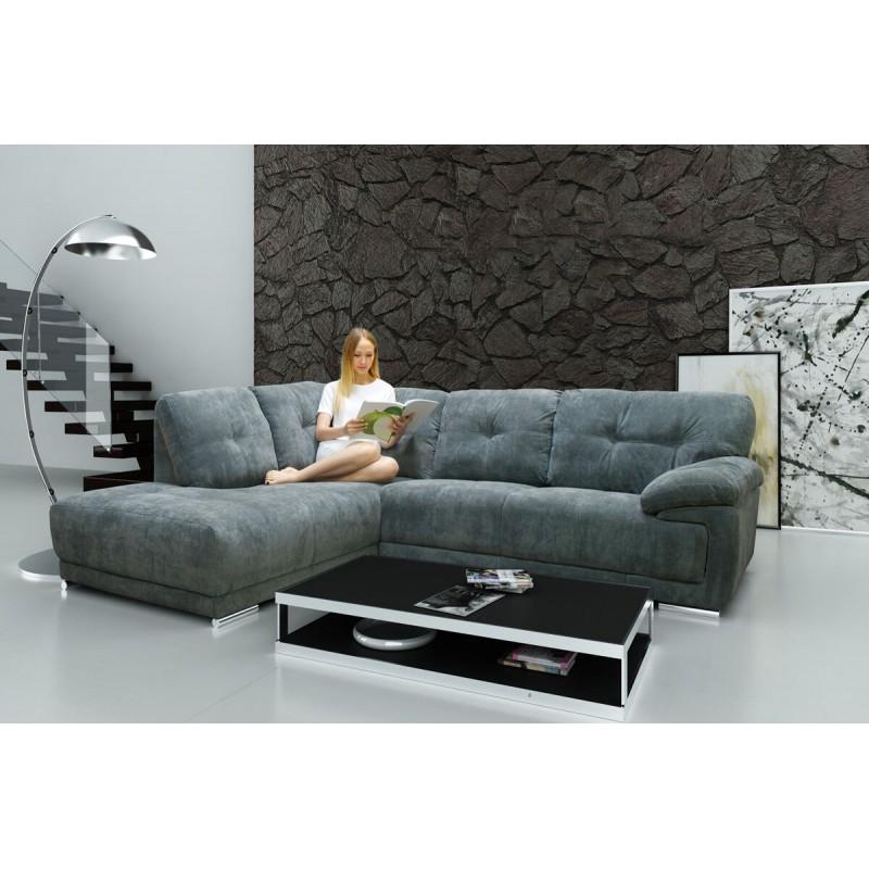 Amazing Lex Corner Sofa In Luxury Grey Fabric
