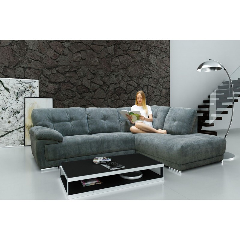 Amazing Lex Corner Sofa In Luxury Grey Fabric