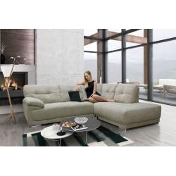 Amazing Lex corner sofa in luxury mink fabric