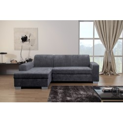Miami Grey Fabric Corner Sofa Bed With Storage. Corner to any side