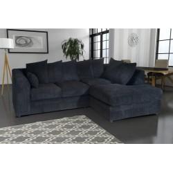 Amazing black cord corner sofa