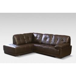 Amazing Lex brown leather large corner sofa