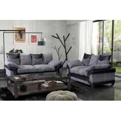 Brand New Dino Black and Grey Cord  3+2 sofas.
