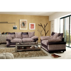 Brand New Dino Brown and Beige Cord 3+2 sofas.