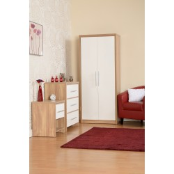 Amazing 3 piece wardrobe set in white high gloss